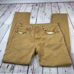 Levi's 502 Straight Leg Brown Jeans Size 34X32
